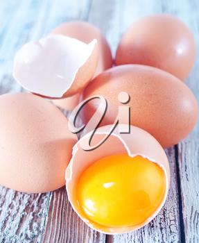 raw eggs on a table, chicken eggs