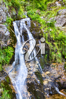 Fahler waterfall in the Black Forest Mountains. Baden-Wurttemberg, Germany