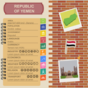 Yemen  infographics, statistical data, sights. Vector illustration