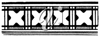 Royalty Free Clipart Image of a Horizontal Banner of Crosses