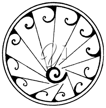 Royalty Free Clipart Image of a Medallion