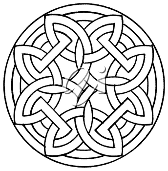 Royalty Free Clipart Image of a Knotted Medallion