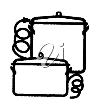 Royalty Free Clipart Image of Cookware