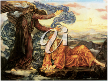 Royalty Free Clipart Image of Earthbound by Evelyn De Morgan