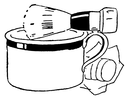 Royalty Free Clipart Image of a Shaving Kit