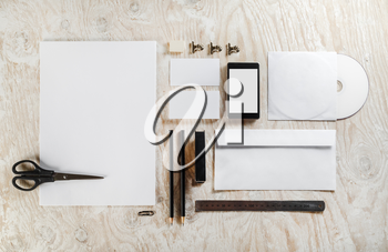 Blank stationery set. Mockup for design presentations and portfolios. Template for branding identity.