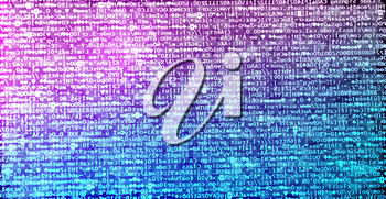 Diagonal pink and purple hacker code background hd