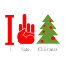 I hate Christmas. Symbol of hatred fuck and tree.