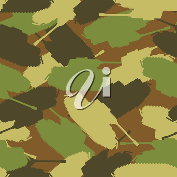 Army tank texture. Protective military background of military transport. Vector Camouflage clothing for soldiers. Troops seamless patern