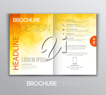 Vector illustration Abstract template brochure design with geometric background