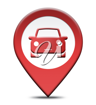Car Rental Location Showing Automobile Hire Places