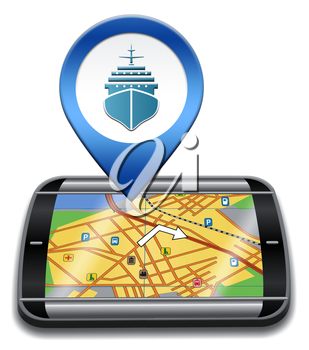 Port Location Representing Cruise Liner 3d Illustration