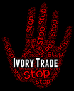 Stop Ivory Trade Showing Elephant Tusk And Exporting