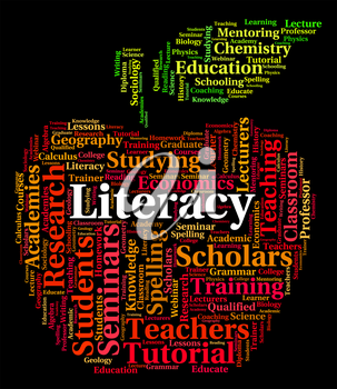 Literacy Word Representing Education Reading And Learning