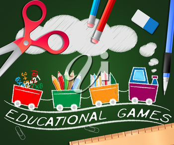 Educational Games Picture Meaning Learning Game 3d Illustration