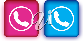Colored Phone Icon Design.