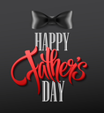 Happy fathers day background with greeting lettering and bow tie. Vector illustration EPS10