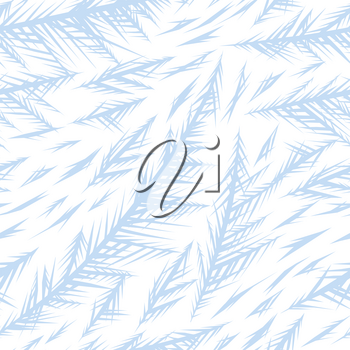 Winter frozen window seamless pattern. Ornament of ice crystals on the glass.