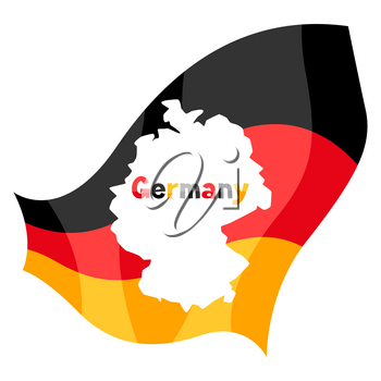 Map in the German flag. National decorative object.