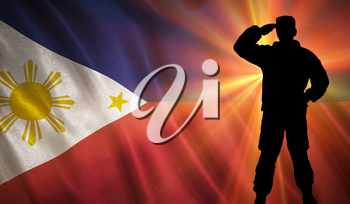 Flag with original proportions. Flag of the Philippines