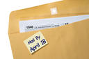 Printed copy of Form 1040 for income tax return with reminder for April 18 deadline