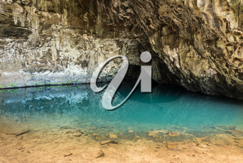 Waikapalae wet cave was used in filming of Pirates of Caribbean and is near Kee Beach, Kauai, Hawaii, United States of America