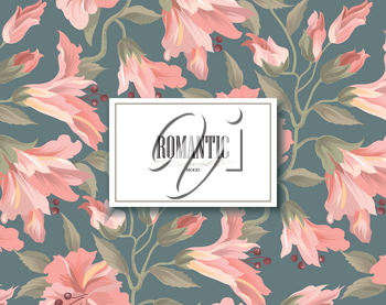 Floral pattern. Flower background. Floral design for perfume, women product, natural cosmetics package. Good for greeting card,  invitation for your design