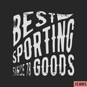 T-shirt print design. Sporting goods vintage stamp. Printing and badge applique label t-shirts, jeans, casual wear. Vector illustration.