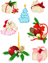 set of  vector christmas icons