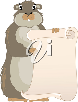 cute groundhog day vector background