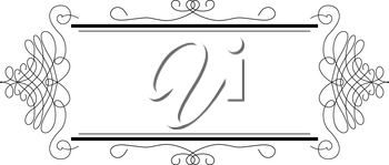 Lines, Scrolls and Swirls Isolated in Black Vector - for Page Decor, Letters, Invitations, Cards, Logo or Menu
