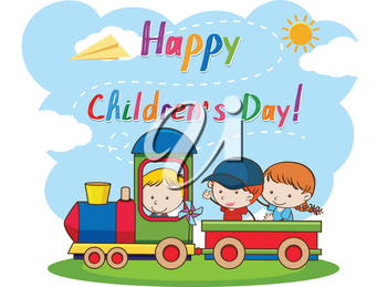 A happy children's day illustration