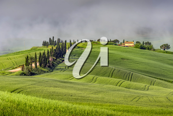 VAL D'ORCIA, TUSCANY/ITALY - MAY 22 : Scenery of Val d'Orcia in Tuscany on May 22, 2013