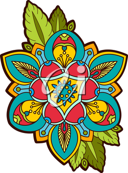 Beautiful ornamental peony, rose flower with an eye of providence. old school tattoo, print on postcards, T-shirts, packaging, smartphone cover, napkins, pillows. Alchemical Tarot Magic flower. Vector