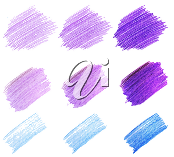 Bright colorful colors vector marker stains