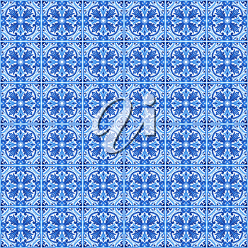 Portuguese azulejo tiles. Blue and white gorgeous seamless patterns. For scrapbooking, wallpaper, cases for smartphones, web background, print, surface texture, pillows, bathroom, linens bags T-shirts