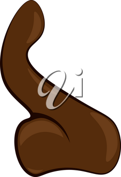 Human nose vector or color illustration